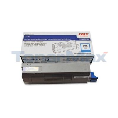 OKIDATA C710 TONER CARTRIDGE CYAN